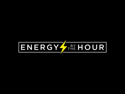 Energy By The Hour flat twinoaks logotype lightning energy logo branding