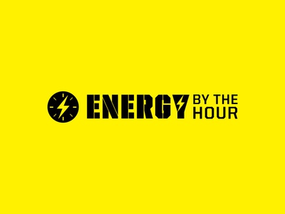 Energy By The Hour 2 flat twinoaks logotype lightning energy logo branding