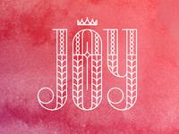Joy pattern lines crown star cross holidays lettering christmas joy