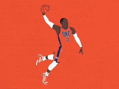 Russdiculous vector illustration thunder russ basketball mvp nba russell westbrook