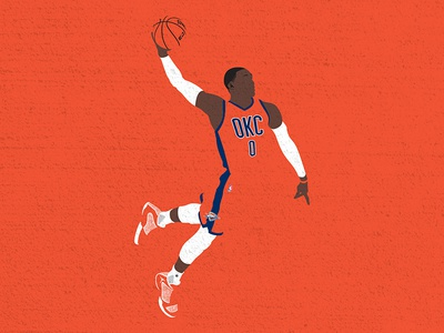 Russdiculous vector illustration thunder russ basketball mvp nba russell westbrook