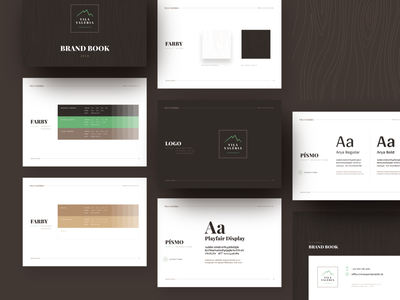 Vila Valeria ⏤ Brand style guide identity wood forest nature green brown styleguides brand