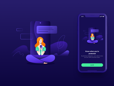 Avast Illustrations ⏤ VPN Mobile #2 application connection protection privacy security vpn iosapp ios app mobileapp productdesign avast character illustration