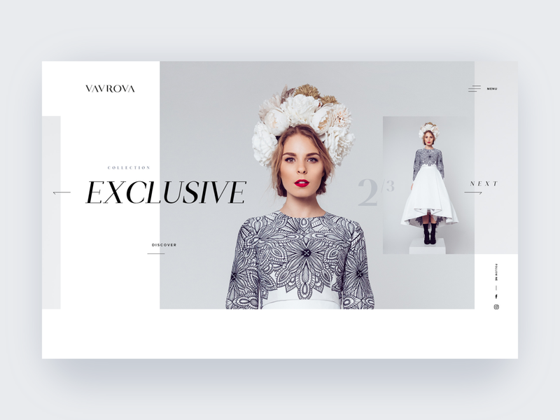 Vavrova ⏤ Web Hero Section dresses fashion design modeling webdesign hero banner hero section hero fashion website design web design website web minimal clean