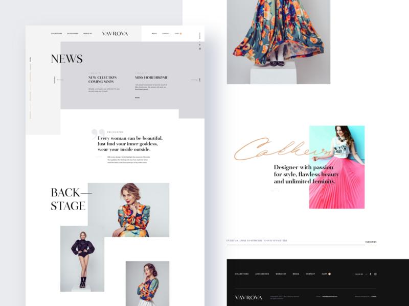 Vavrova ⏤ Web News & Media website design website web design webdesign web product showcase product detail modern modeling minimal fashion design fashion dresses clean