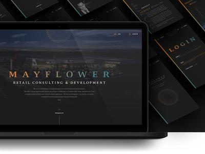 Mayflower Webdesign / 2016 mobile web dark clean interface ui webdesign
