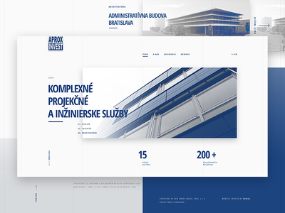Aprox Invest Website / 2016 index homepage architecture blue white clean web ui interface redesign webdesign
