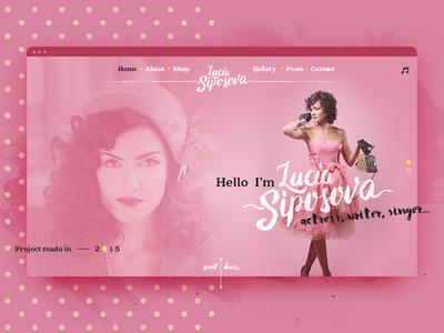 Siposova — Personal Website webdesign website personal retro yellow pink 2015