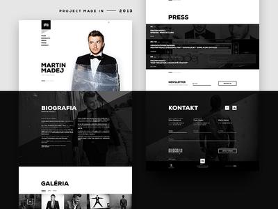 Martin Madej — Personal Website webdesign web ux ui light dark minimal celan white black 2013