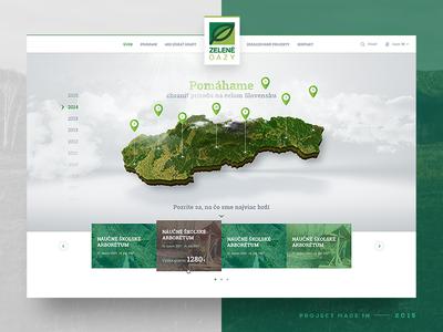 Zelene Oazy — Website Concept nature enviroment slovnaft webdesign web ux ui green 2015