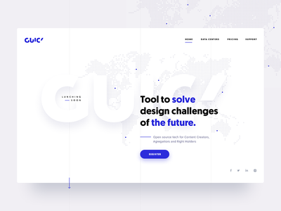 GUICY — Website Concept lunch screen homepage ux ui web webdesign blue white