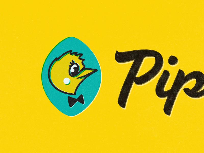 Pip  pipiolo brand lettering logo titorama titofolio mascot
