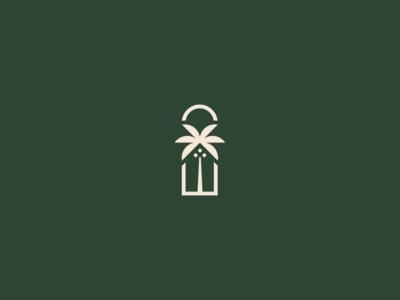 Tropical hotel symbol