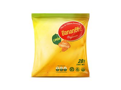 Bananoh! Chips / Lemon Cheddar logotype logotipo mexico titorama package design platano bananas titofolio identity brand branding packaging chips banana