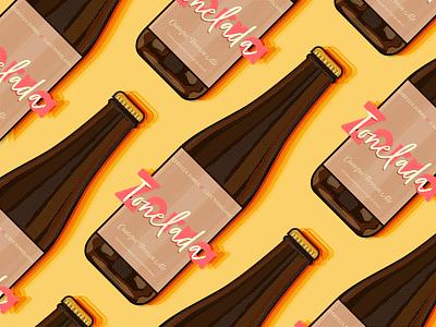 Zorra - Tonelada cafe halftone cerveza bottle ilustracion illustration logo brand beer coffee