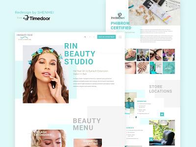 Rin Beauty Studio Website Re-design branding minimal website web design flat web ux ui timedoor design