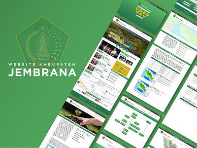 Evaluasi dan Perancangan UIUX Website Kabupaten Jembrana design mock design graphic uiux designer uiuxdesigner uxdesign userinterface uiux ui  ux ui