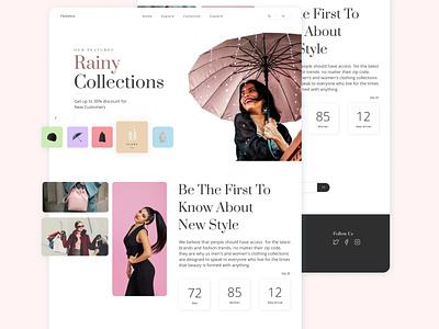 Flashion Landing Page - Eksploration fashion storenwebsite website uiux designer store website landing page desgin website fashion website fashion design user interface user interface