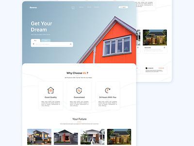 Reverie User Interface Website - Eksploration branding user interface design website real estate uiux design design uiux ui design user interface