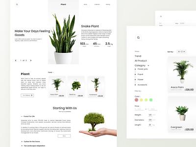 Plant UI Website - Exploration store ui website green nature plant store ui designer ui design plant sale site plant uiux website design website user interface