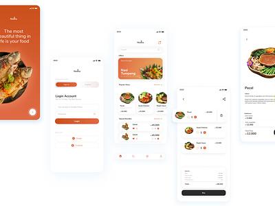 Nedha Food App - Exploration user interface design designer ui design ui ui designer javanese mobile app food apps user interface
