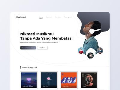 Musikologi - Exploration ui designer music website internet user interface design ui branding logo illustration uiux design website ui design designer user interface