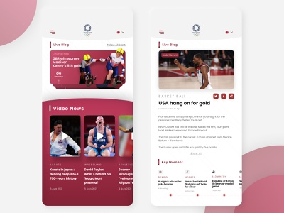 Olympics Mobile Apps - Exploration android appstore iphone design mobile olympic mobile apps uiux design cool clean uiux designer mobile design website ui design ui design designer compretition olympics user interface user interface design mobile apps