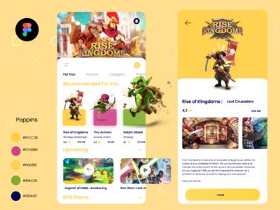 Game Store App ui app store game figma