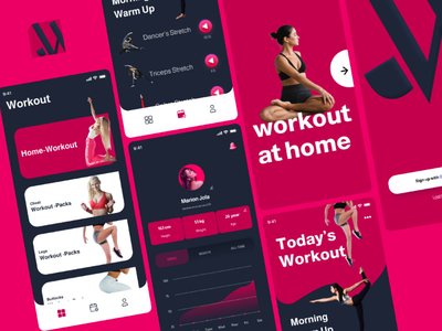Workout | App design design app workout fitness ui figma
