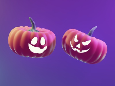 Pumpkins smile pumpking design 3d sculpt 3d illustration