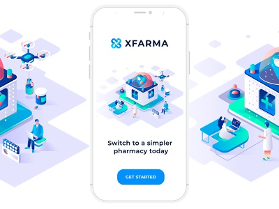 XFarma Logo / App doctor pills illustraion ux ui designer website pharmacist logodesign logos app design app pharmacy pharma