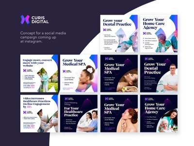 Social Media Banners health spa medical photos photoshop ai psd socialmedia social media templates social media design social network social media banner social media pack digital illustration design concept media kit story feed social media