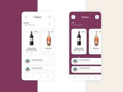 Wine App to Help Pick Your Bottle shot ai psd template psd mockup uxdesign ui uiux figmadesign figma xd sketch artwork bottle design mobile app design mobile mobile ui webdesign store app wine