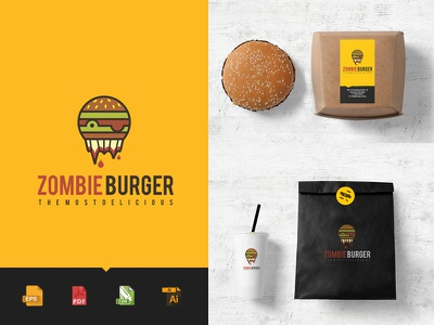 Logo Burger Food download pdf cdr eps psd free food delivery restaurant food burger logo