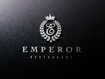 Emperor Logo crown food restaurant brand design black and white art best logo philly graphicdesign logodesinger logodesigns logotype logodesign 3d art 3d logo3d logo eps ai psd