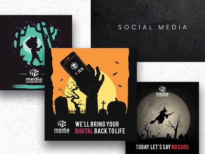 Halloween Social Media Marketing instagram stories instagram banner instagram template poster design instagram media logo media kit halloween social media marketing halloween social media marketing