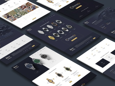 Watches Website graphicdesign philly xd design sketch psd creative website design webdesign website design ux site builder site watches website