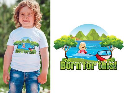 T-Shirt Design | Born For This! animation graphicdesign sticker design logodesigner illustration branding logodesigns logos tshirts tshirt design tshirtdesign tshirt art tshirt