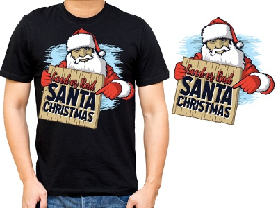 Santa Shirts and Christmas T-Shirts Designs graphicdesign logos sticker design logodesigns branding design illustration logodesigner tshirt design tshirtdesign tshirts tshirt