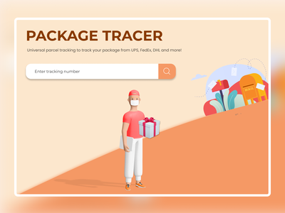 Package Tracer Website figma website design website web design webdesign illustration designgraphic uxdesign uidesign ux ui