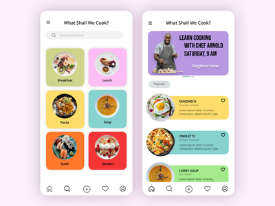 Recipe App UI food application recipe app recipe designgraphic mobile mobileappdesign figma uxdesign ux uidesign ui