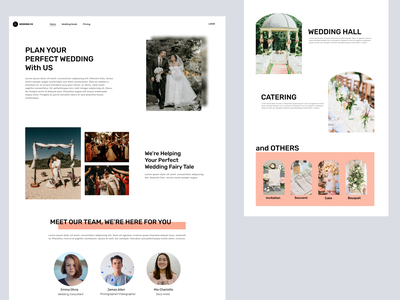 Wedding Organizer Landing Page landing page websites figma wedding website concept ux ui website design website