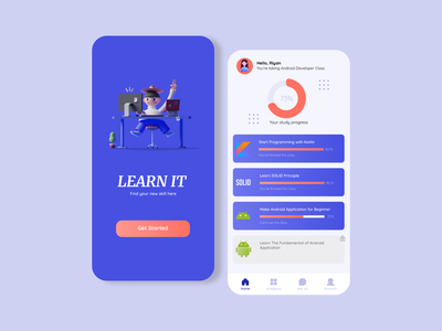 Online Learning App Page 1 illustration learning platform mobile app figma education app learning app uxdesign uidesign ux ui