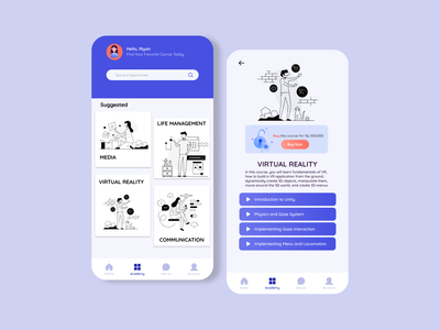 Online Learning App Page 2 mobile app design mobile app learning app illustration figma uxdesign uidesign ux ui