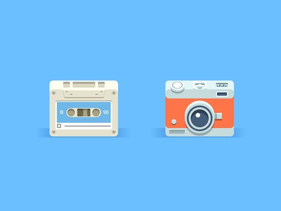 Super Simple Icons icon icons illustration simple tape camera photo flat