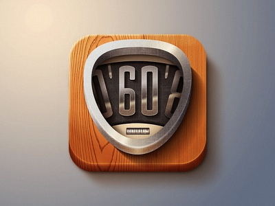 Retro Speedometer speedo 60s car speed wood metal chrom app retro speedometer icon illustration