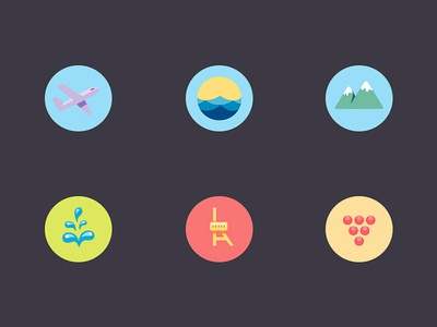 Map Icons icons map location pin wine grape mountain resort plane airport sea seaside simple home town home town mineral water mineral water