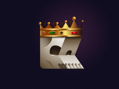 King 36daysoftype type crown king skull mark illustration