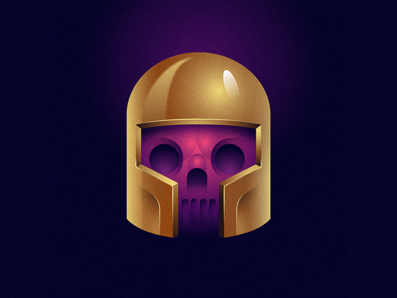 Titan 36dayoftype type helmet illustration marvel thanos skull