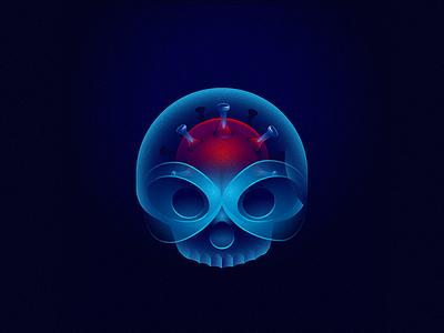 X-ray 36daysoftype illustration virus skull x-ray